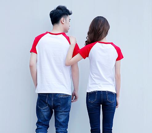 红色精棉插肩袖