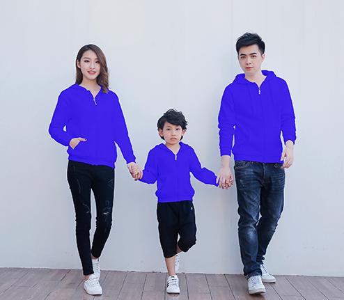 紫色加绒加厚精棉拉链卫衣