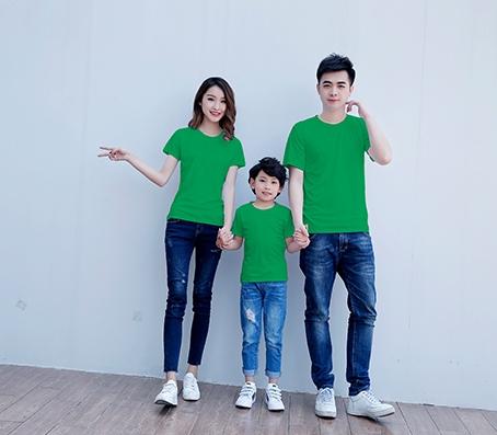 纯绿色短袖精棉