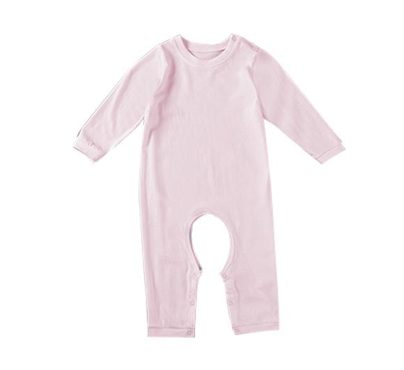 粉色精棉哈衣