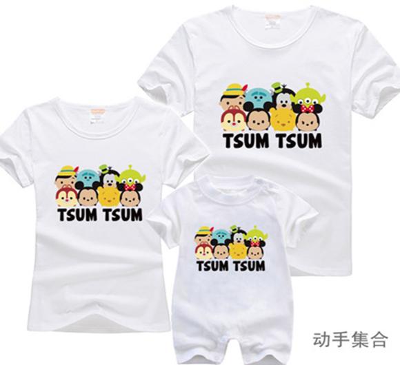 时尚家庭套装T恤定制