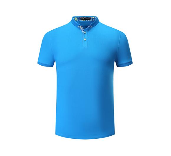 蓝色POLO衫定制