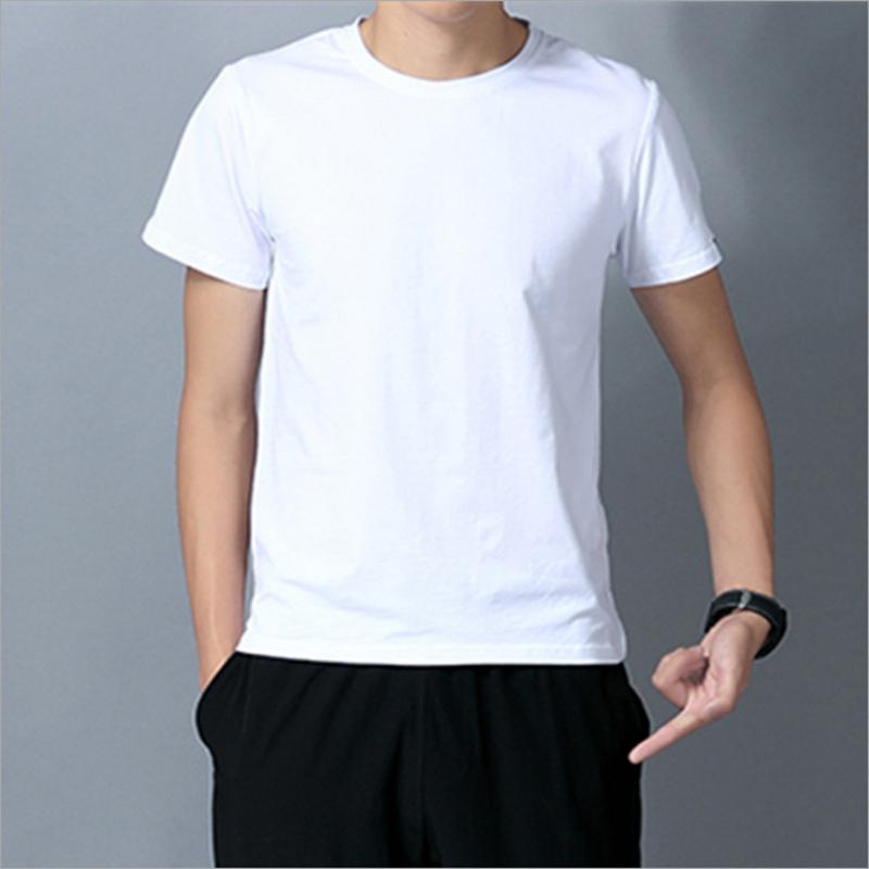 纯白短袖T恤定制