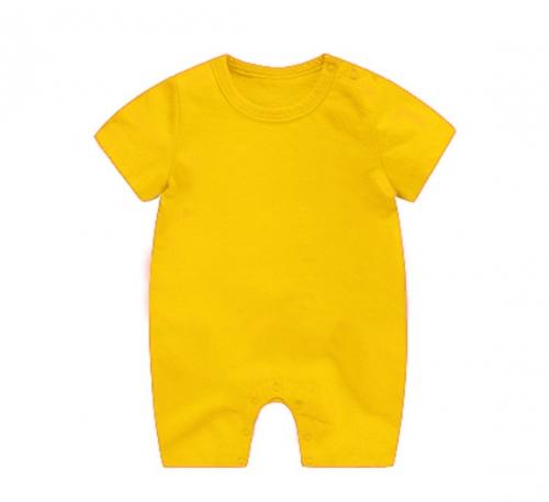 黄色精棉哈衣