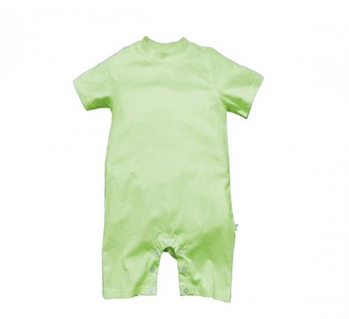 果绿色精棉哈衣