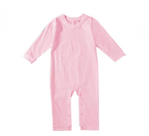 粉红精棉哈衣