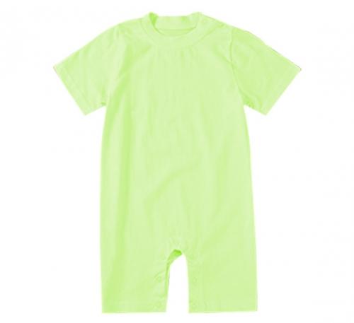 纯浅绿色精棉哈衣