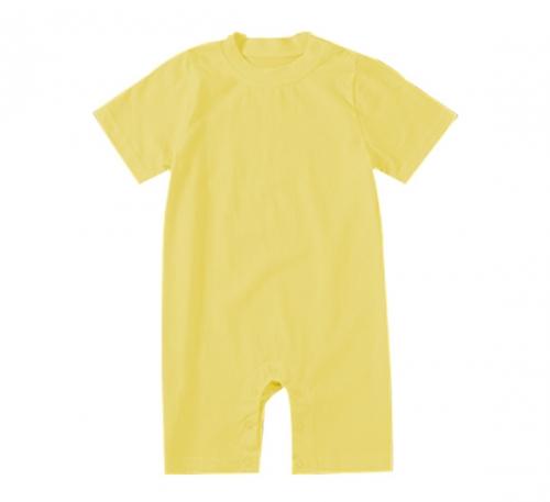 纯黄色精棉哈衣