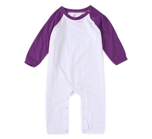 插肩紫精棉哈衣