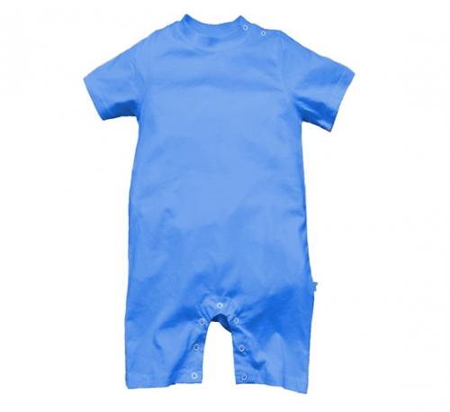 彩蓝精棉哈衣