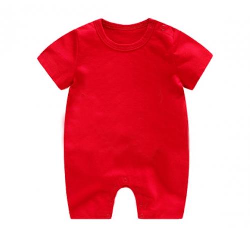红色精棉哈衣