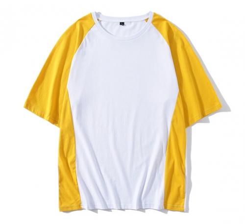 纯棉落肩中袖T恤