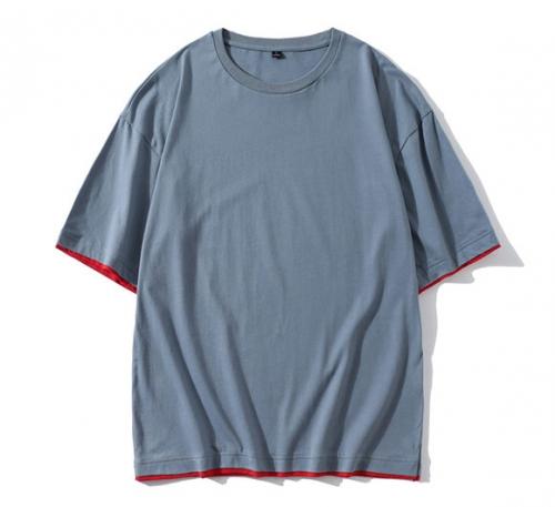 纯棉落肩中袖t恤--A款
