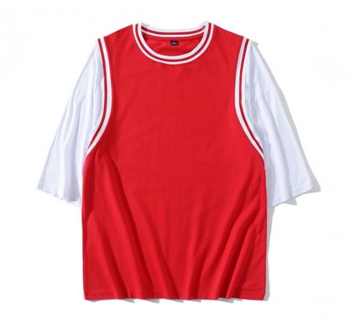 落肩篮球服T恤